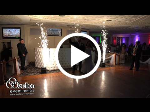 Indoor Fireworks Rental by Ovation Event Rentals