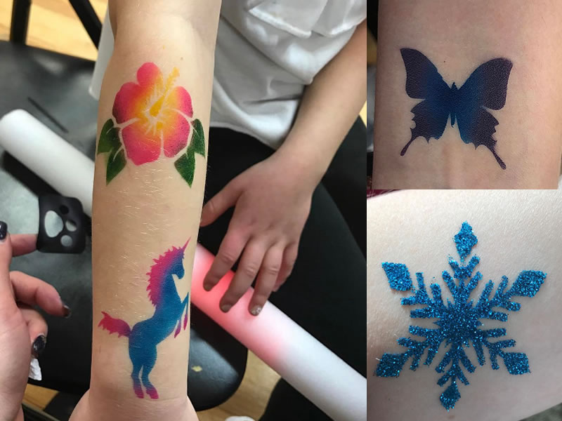 We even have glitter tattoo options