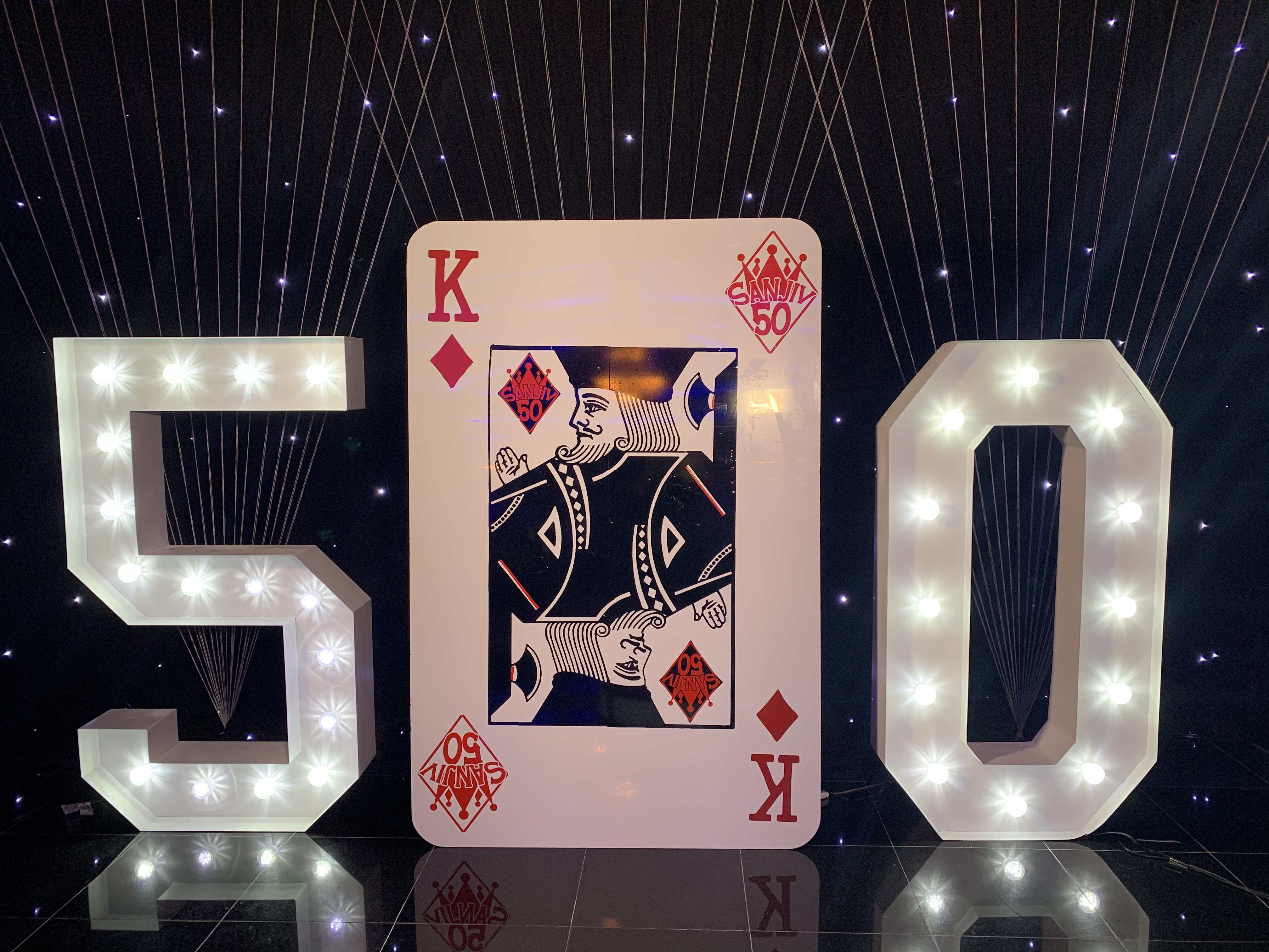 5 FT Foot Playing Card